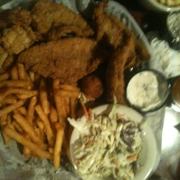 Catfish and Fried Shrimp with Hush Puppies @ Fish Camp