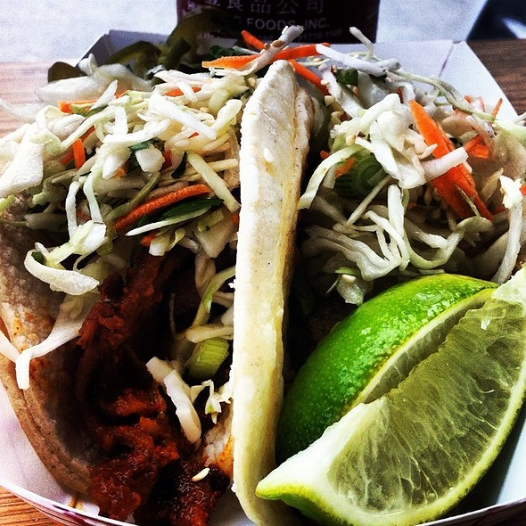 Ginger Chicken & Spicy Pork Tacos @ Marination Station