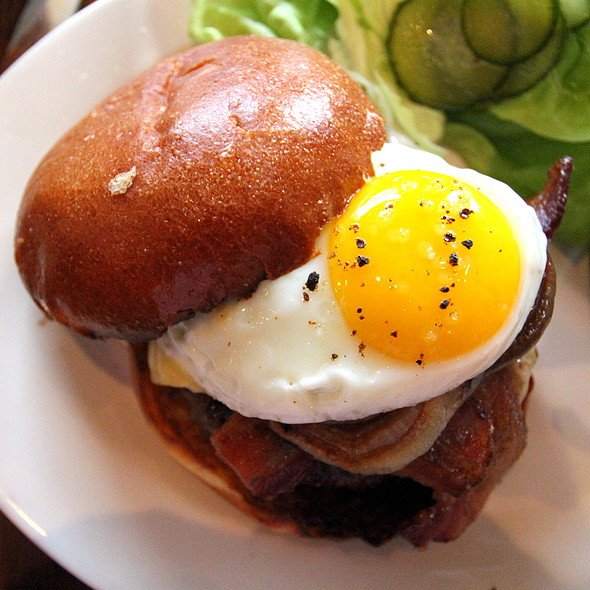 Bacon Cheeseburger with Fried Egg @ Wayfare Tavern