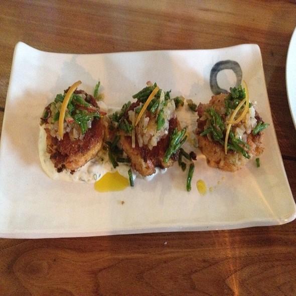 Salmon Croquettes, Bean Slaw And Creme Fraiche @ Art of the Table