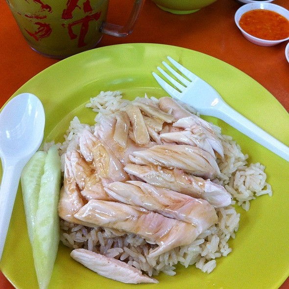 how to cut hainanese chicken