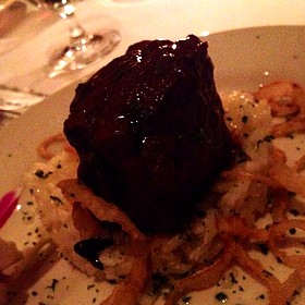 Braised Short Ribs With Black Truffle Risotto