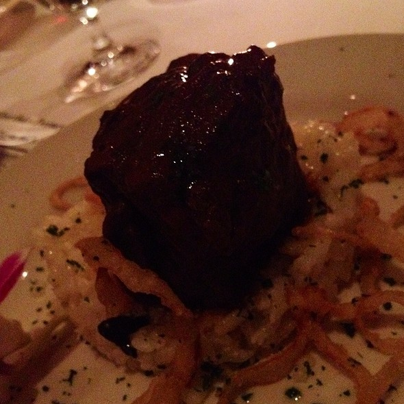 Braised Short Ribs With Black Truffle Risotto - Del Frisco's Double Eagle Steak House - New York City, New York, NY