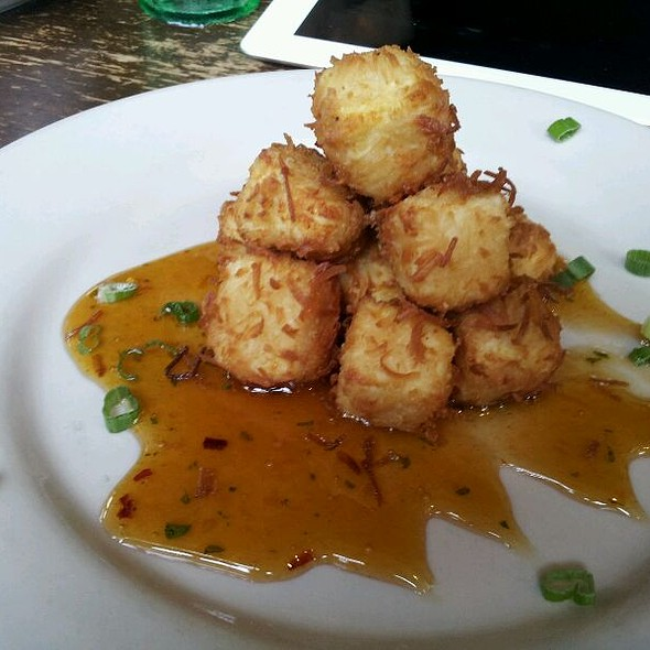 Coconut Tofu Bites (Vegan) With Plum Sauce @ Busboys & Poets