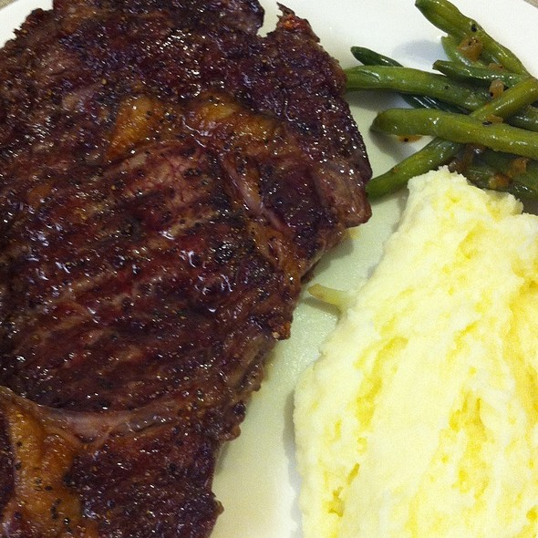 Entrecote , Mashed Potatoes & Green Beens @ My Kitchen