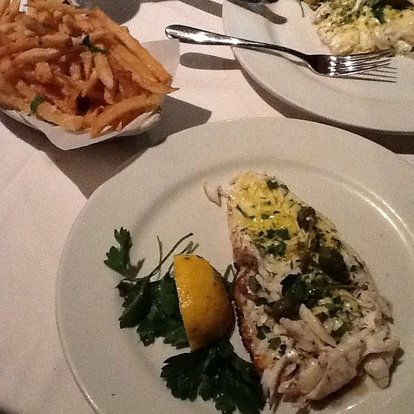 Black Sole With Truffle Fries - Avra Estiatorio on 48th, New York, NY