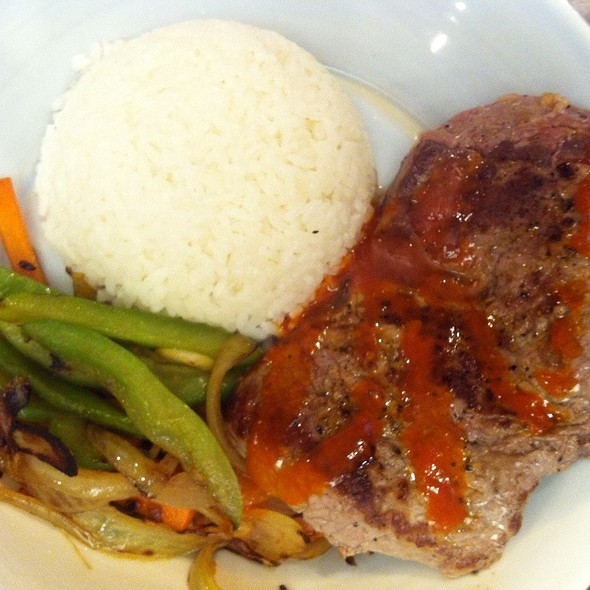 Steak, Veges & Rice @ Chookys