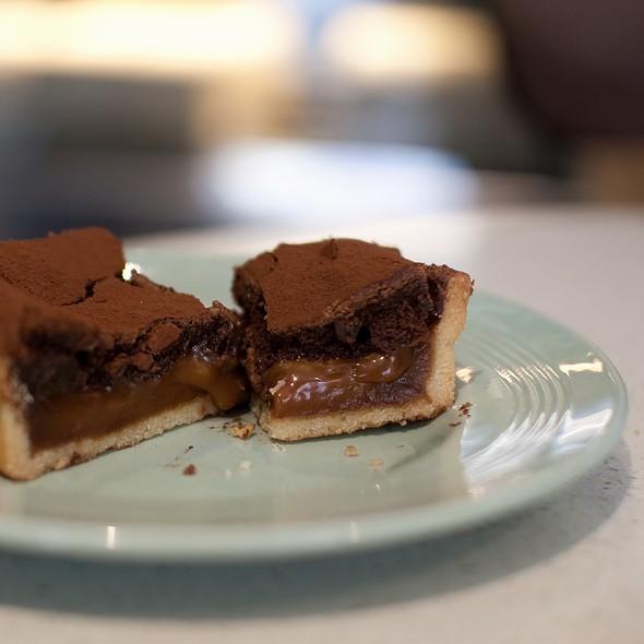 Salted Caramel & Dark Chocolate Tart @ Flour & Stone