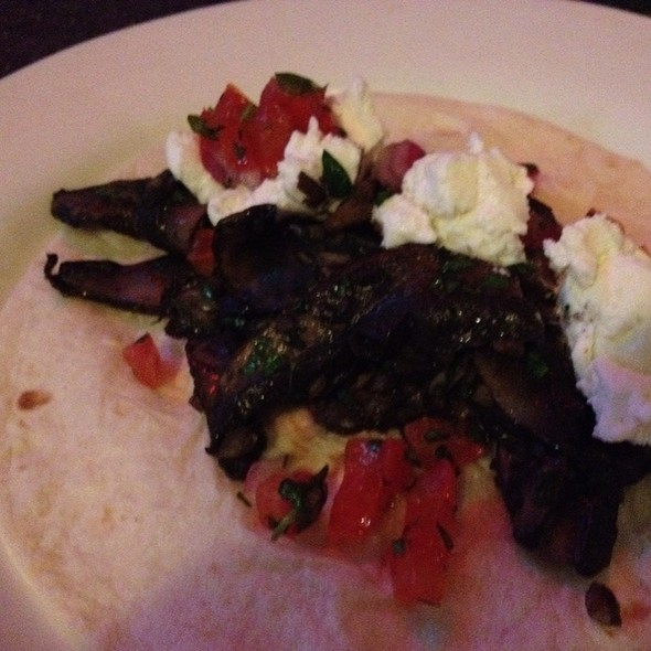 Portobello Mushroom And Goat Cheese Tacos @ Ok Bicycle Shop