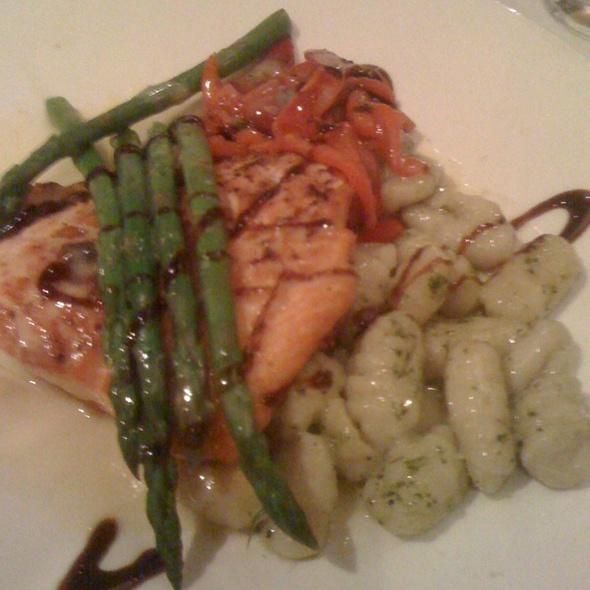 Pan Seared Salmon With Pesto Gnocci - Tomato Grill, Hudson, OH