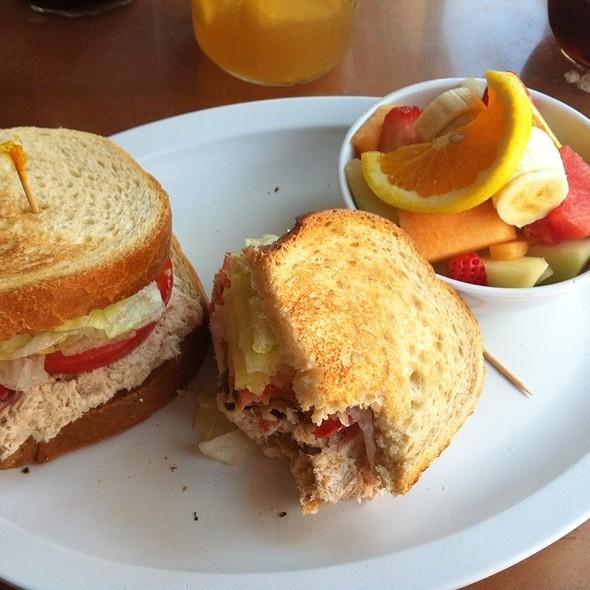 Tuna Sandwich Toasted On Sourdough @ Bread Crumb