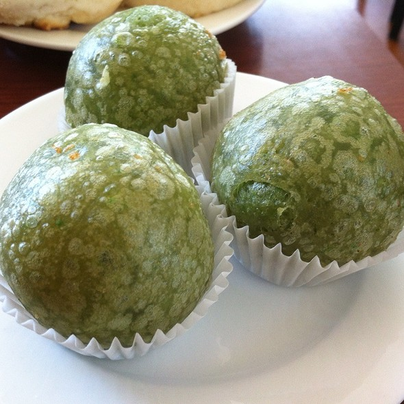 Green Tea Dumplings @ BK's Bistro