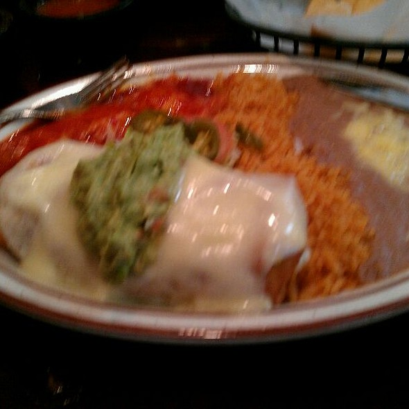 Burrito And Enchilada Plate @ Felipe's