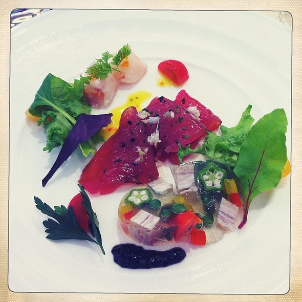 Tuna, Pork Terrine, Lobster & Sea Bream @ Aquagrace Chapel