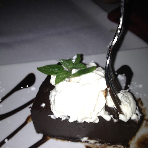 Chocolate Sin - Flourless Chocolate Cake - España Restaurant of Amelia Island, Fernandina Beach, FL