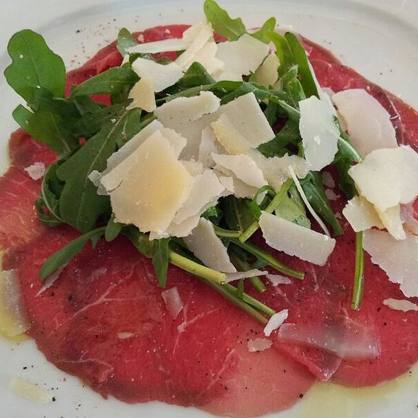 Beef Sirloin Carpaccio With Parmesan Shavings, Olive Oil And Rucola @ Grandhotel Pupp