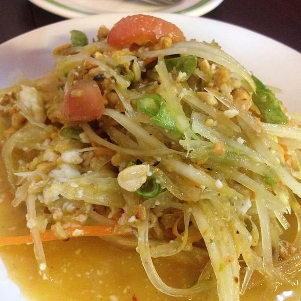 ส้มตำไข่เค็ม | Spicy Papaya Salad With Salted Egg @ ส้มตำอินเตอร์ 1