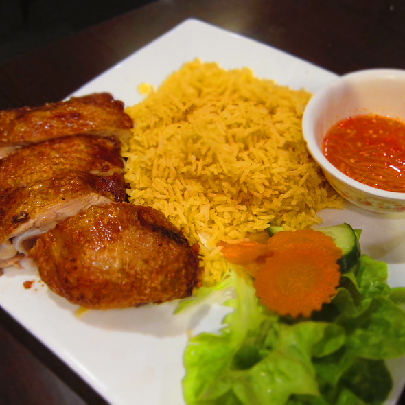 Crispy Skin Chicken With Tomato Rice @ Pho Hien