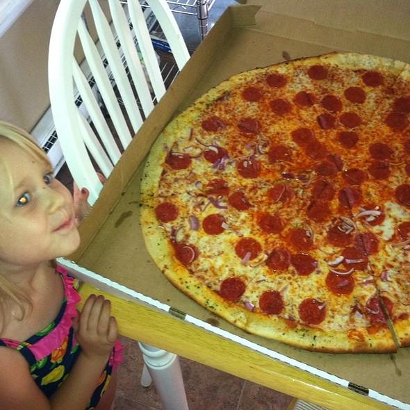 "24"" Pepperoni & Onion @ Pizza Casbah"