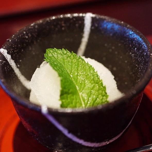 Yuzu Sorbet @ Restaurant Mitsunobu