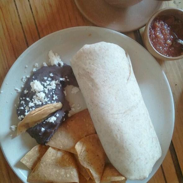 Chicken Burrito, With Chips & Salsa @ Lobo Azul Tostadores