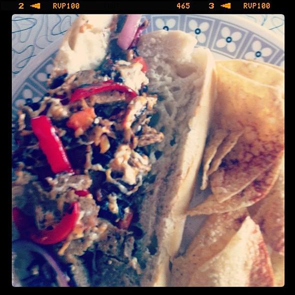 #vegan   philly cheese sammich @ Spiral Diner & Bakery
