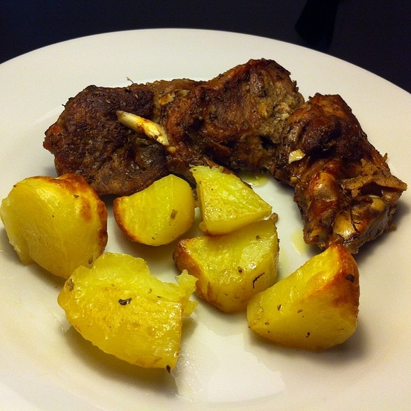 Slow Roasted Leg of Goat with Potatoes @ Home