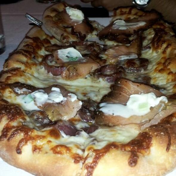 Smoked Salmon Pizza - Vinoteca di Monica, Boston, MA