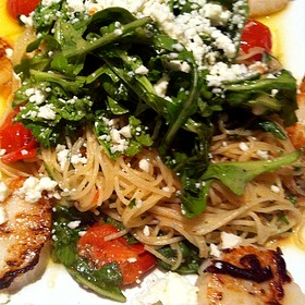Scallop And Arugula Pasta