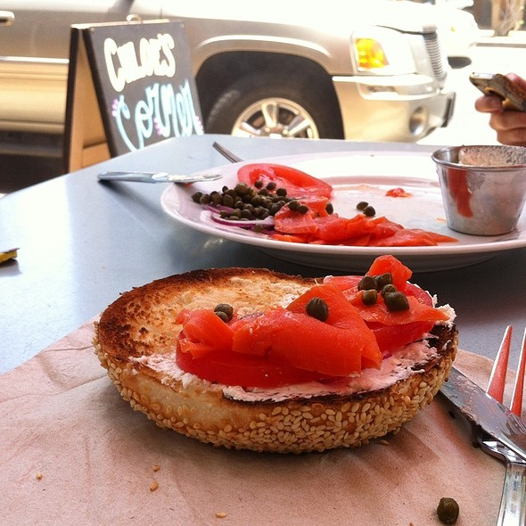 Bagel with Lox @ Chloe's Corner