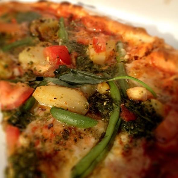Pizza W/Housemade Pesto, Potatoes And Haricot Verts