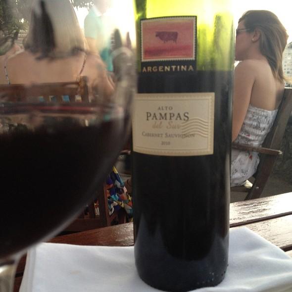 Vinho Alto Pampas Del Sur @ Confeitaria Colombo Forte De Copacabana