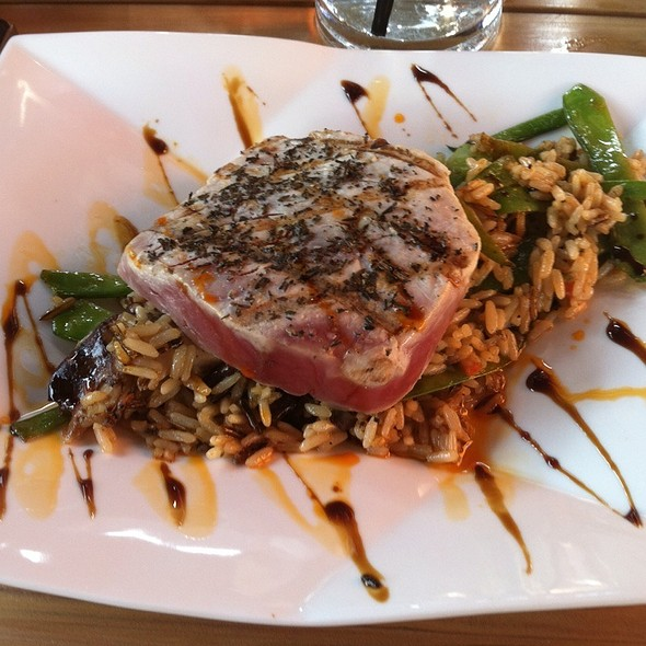 Tuna Steak With Rice @ Tryst gastro lounge