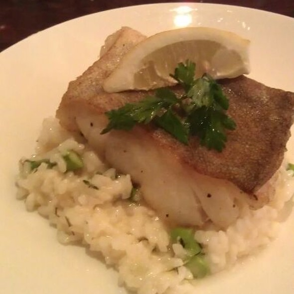 Wild Cod With Asparagus Risotto @ Martine's