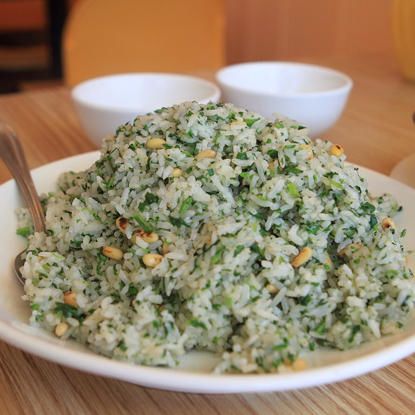 Spinach and Pine Nuts Fried Rice @ Enjoy Vegetarian Restaurant