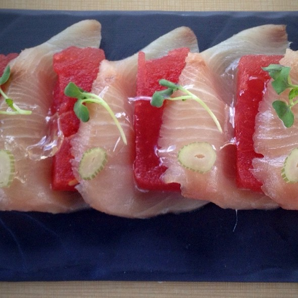 Hamachi With Watermellon @ Nest