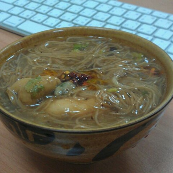 Oyester Noodle Soup @ Kevin's Office