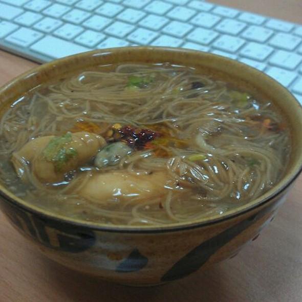 Oyester Noodle Soup @ Kevin's Office
