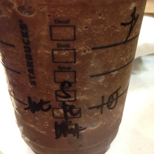 Dark Mocha Frappuccino With Soy Milk And Coffee Jelly @ Starbucks - Rockwell Drive