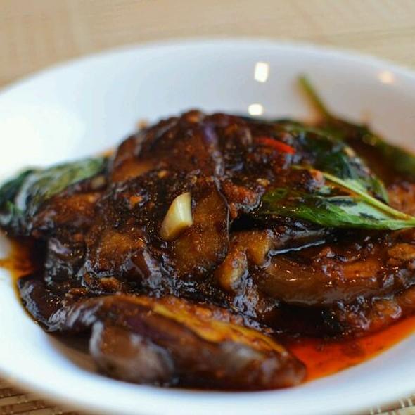 Stir Fried Eggplant and Sambal Prawn Chili Sauce @ Hut By The River