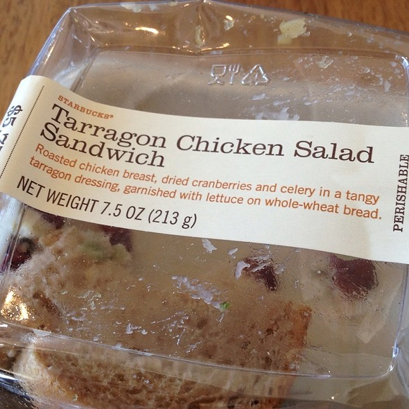 Tarragon Chicken Salad Sandwich @ Starbucks
