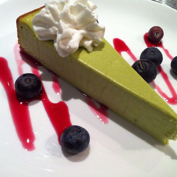 Green Tea Cheesecake With Hibiscus Drizzle @ The Venue Sushi Bar & Sake Lounge