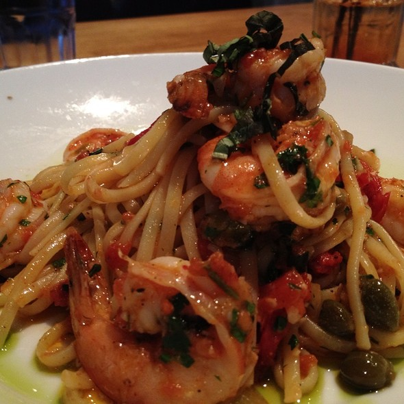 Seafood Linguine - Blue Canoe Waterfront Restaurant, Richmond, BC