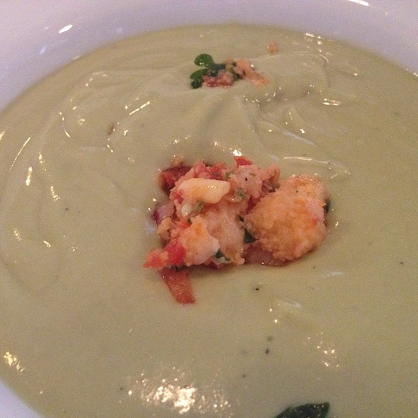 Chilled Avacado Soup With Fried Tomatoes  - Fresh Salt, Old Saybrook, CT