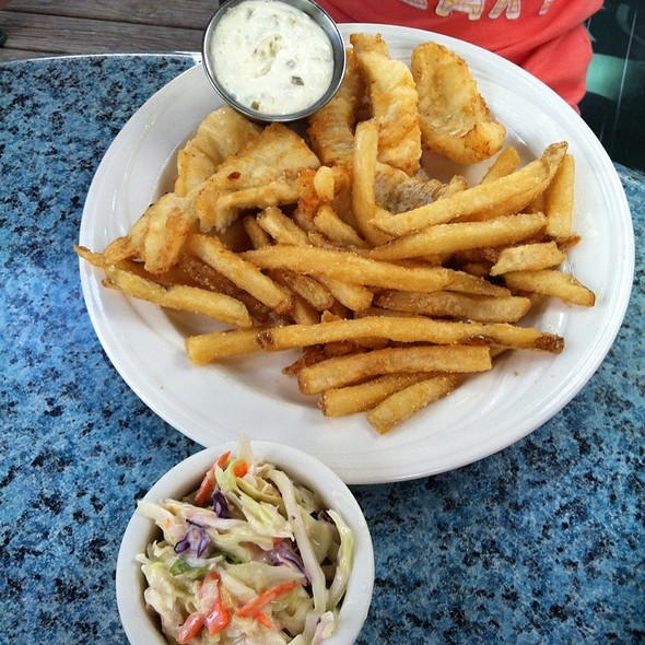 Fish And Chips With Tartare Sauce - Charlie B's, Stowe, VT