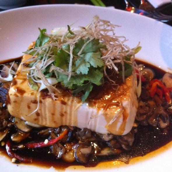 Steamed Silken Tofu With Asian Mushrooms And XO Sauce @ Gingerboy