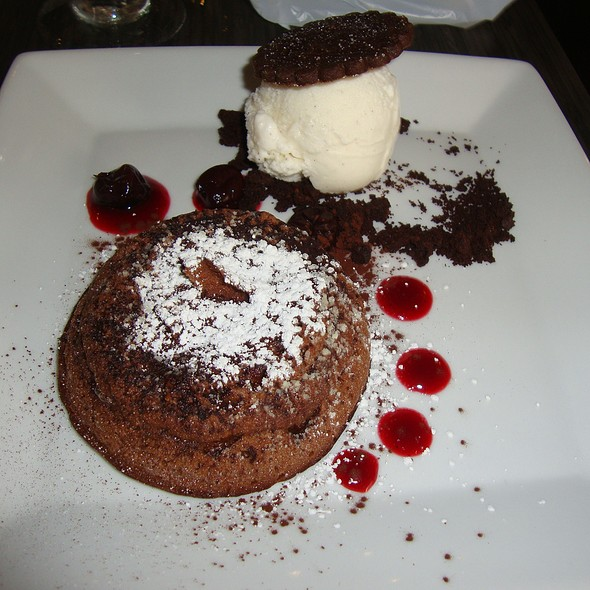 Molten Chocolate Cake - Before - BLU - Restaurant & Lounge, Sugar Land, TX
