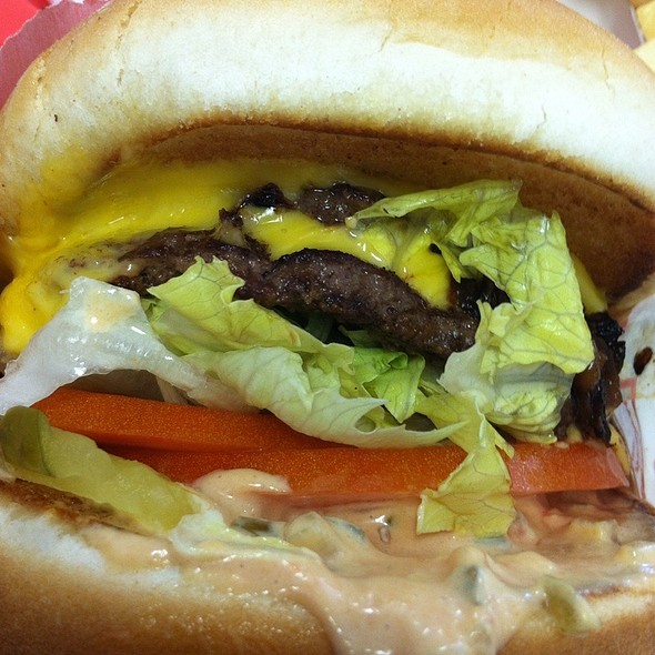 Animal Style Burger @ In-N-Out Burger