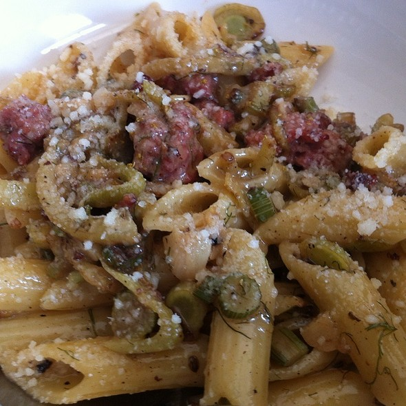 Penne With Pork Sausagr, Fennel And Parmigiano Reggiano