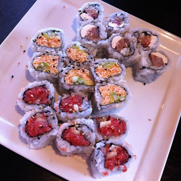 Philadelphia Roll, Spicy California Roll, And Spicy Tuna Roll